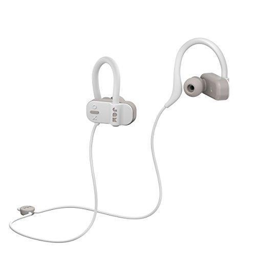 Jam Auricolari Live Fast Workout Bluetooth, IP67 Resistenti al Sudore, Archetti 3 Formati Inclusi, 12 Ore di Durata della Batteria, Vivavoce, Grigio - 2