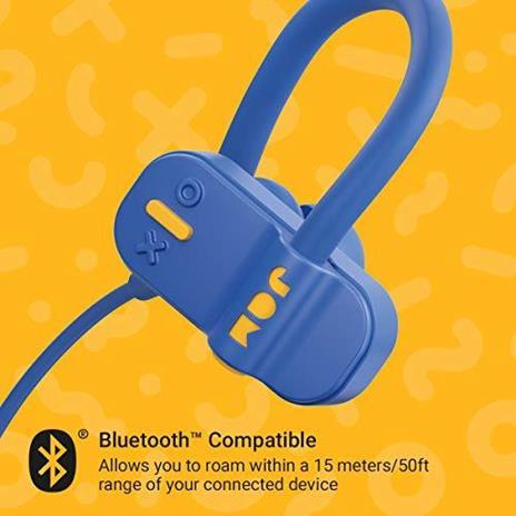 Jam Auricolari Live Fast Workout Bluetooth, IP67 Resistenti al Sudore, Archetti 3 Formati Inclusi, 12 Ore di Durata della Batteria, Vivavoce, Blu - 4