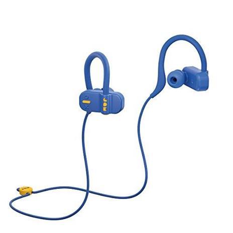 Jam Auricolari Live Fast Workout Bluetooth, IP67 Resistenti al Sudore, Archetti 3 Formati Inclusi, 12 Ore di Durata della Batteria, Vivavoce, Blu - 2