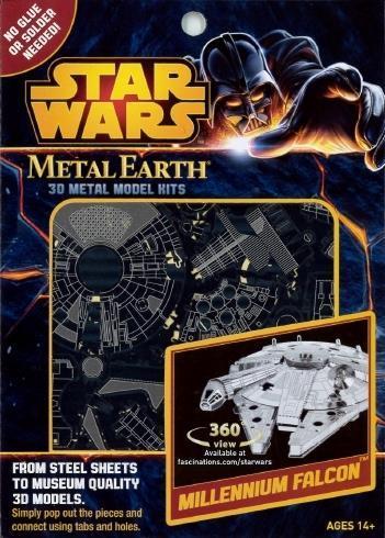 Star Wars Millennium Falcon Metal Earth 3D Model Kit MMS251