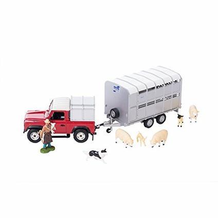 Land Rover con Rimorchio e Animali 43138