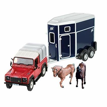 Land Rover con Rimorchio e Cavalli