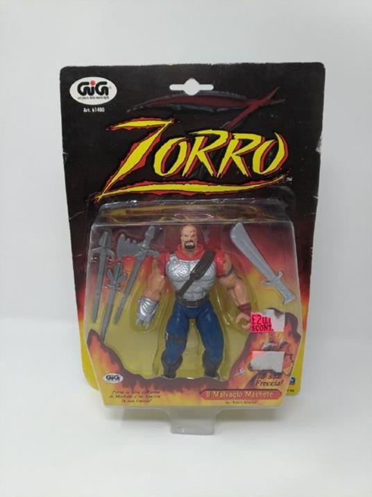 Zorro. Il Malvagio Machete. Personaggio Snodabile da Collezione con Accessori - 2