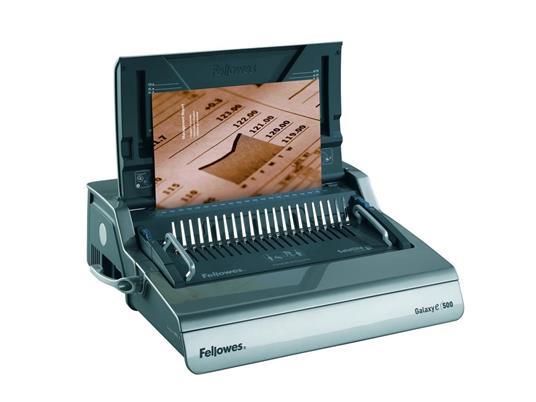 Fellowes Galaxy E Comb 500 fogli Nero, Argento