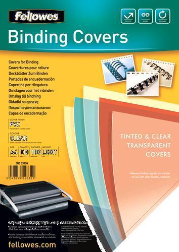 Fellowes 5375901 cartellina A4 Plastica, PVC Trasparente 100 pezzo(i) - 2