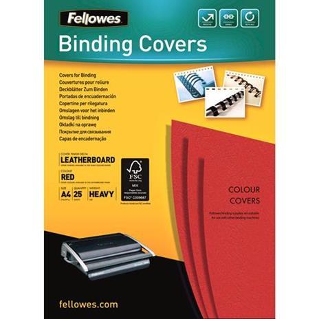 Fellowes 5373702 cartellina A4 Carta Rosso 25 pezzo(i)
