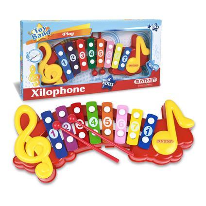 Xilofono a 8 Note Metalliche Colorate 2 Bacchette in Dotazione. Bontempi (55 0835)