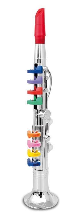 Toy Band Play. Clarino Cromato Grande a 8 Chiavi/Note Colorate. Bontempi (32 4431) - 3