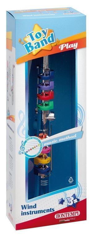 Toy Band Play. Clarino Cromato Grande a 8 Chiavi/Note Colorate. Bontempi (32 4431) - 4