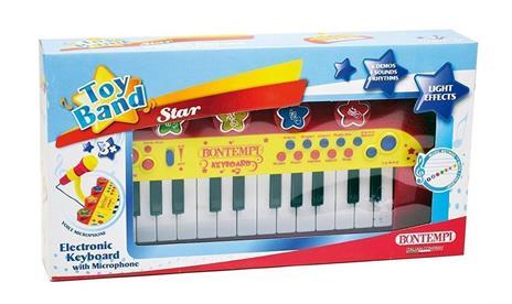 Toy Band Star. Tastiera Elettronica a 24 Tasti con Microfono. Bontempi (12 2931) - 2
