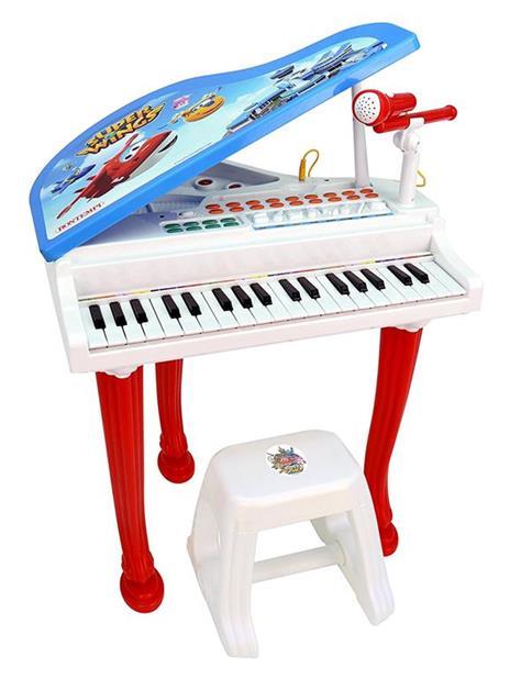 Pianoforte a Coda Super Wings Elettronico con Microfono e Sgabello - 6