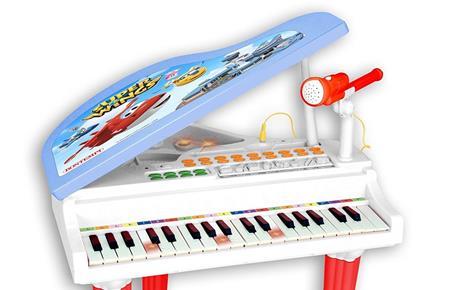 Pianoforte a Coda Super Wings Elettronico con Microfono e Sgabello - 7
