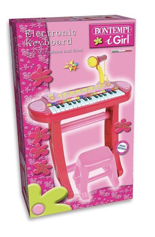 I Girl. Tastiera Elettronica a 31 Tasti con Microfono e Sgabello. Bontempi (13 3671) - 2