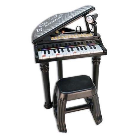 Toy Band Star. Pianoforte a Coda Nero 31 Tasti con Microfono Gambe e Sgabello. Bontempi (10 3000)