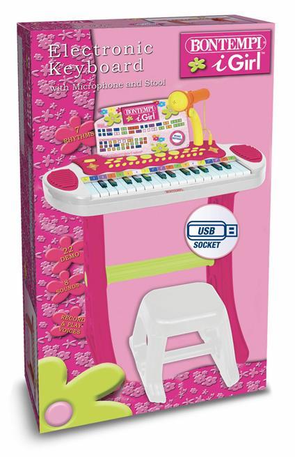 I Girl. Tastiera Elettronica 31 Tasti. Bontempi (13 3672)