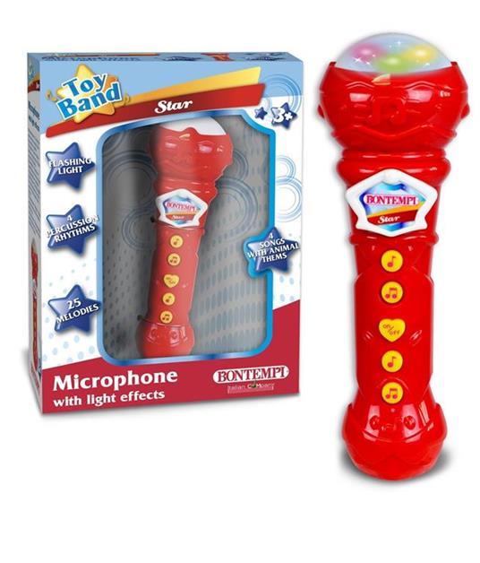 Bontempi Microfono Giocattolo Karaoke con Effetti Luminosi Microfono Bambini