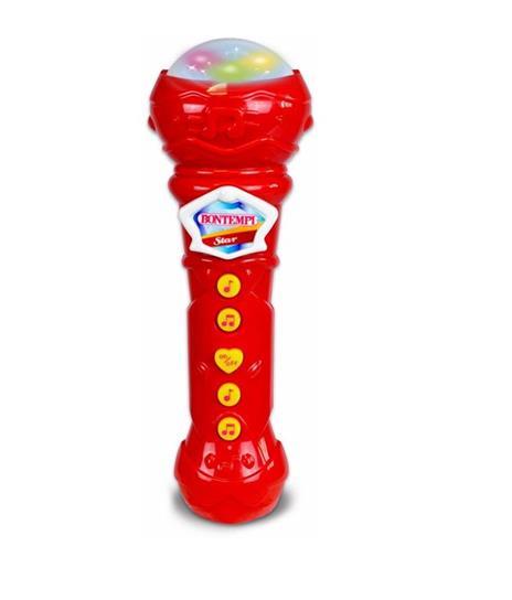 Bontempi Microfono Giocattolo Karaoke con Effetti Luminosi Microfono Bambini - 4
