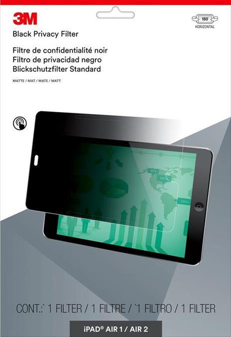 3M Filtro Privacy per Apple® iPad Air® 1/2/Pro® 9,7 - modalità orizzontale - 2
