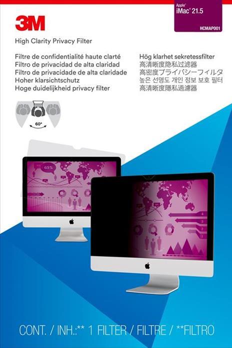 """3M Filtro Privacy High Clarity da 21,5"""" per Apple® iMac® - 2"""