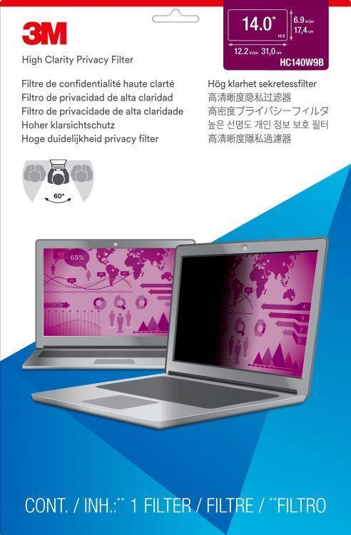 """3M Filtro High Clarity Privacy oro per laptop widescreen da 14"""" - 3"""