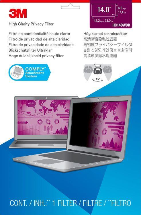 """3M Filtro High Clarity Privacy oro per laptop widescreen da 14"""" - 4"""