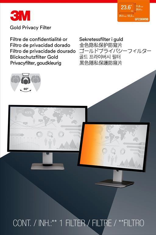 """3M Filtro Privacy per monitor widescreen da 23.6"""" - 2"""