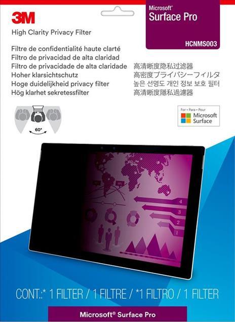3M Filtro Privacy High Clarity da Microsoft® Surface® Pro - 2