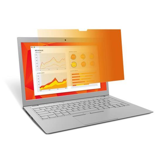 """3M Filtro privacy Gold Touch per laptop a schermo intero da 14,0"""""""