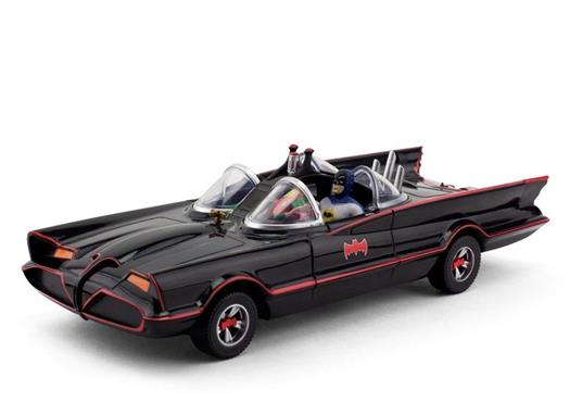 Dc Comics: 1966 Batmobile With Batman & Robin Mini Bendable Figures