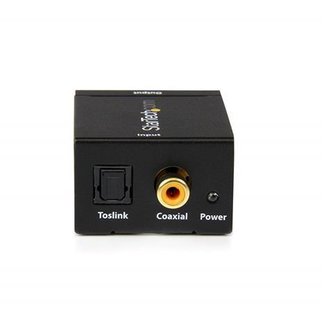 StarTech.com Convertitore audio da coassiale digitale SPDIF o ottico Toslink a RCA stereo - 6
