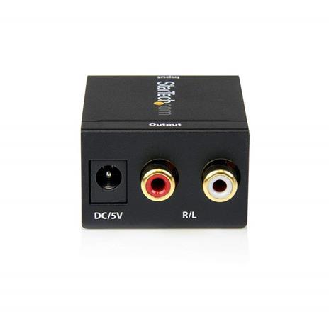 StarTech.com Convertitore audio da coassiale digitale SPDIF o ottico Toslink a RCA stereo - 7