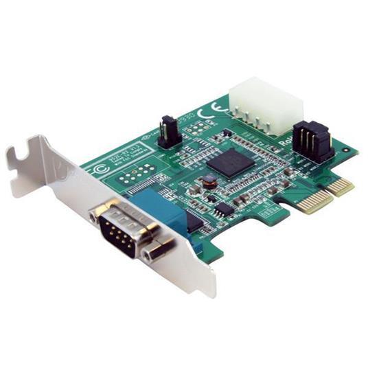 StarTech.com Scheda seriale PCI Express nativa basso profilo a 1 porta con 16950