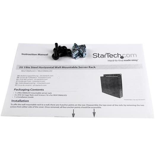 StarTech.com Server-rack-in-acciaio-19''-2U-per-montaggio-su-parete