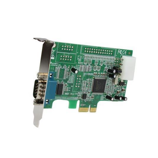 StarTech.com Scheda PCI Express seriale nativa basso profilo a 1 porta RS-232 con 16550 UART - 2