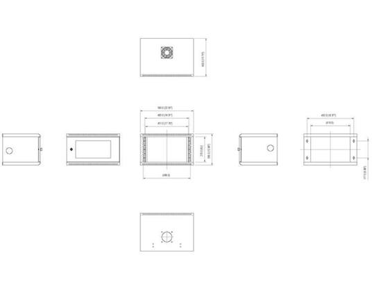 StarTech.com Armadio server rack montaggio a parete 6U 50 cm ca. con sportello in acrilico - 4