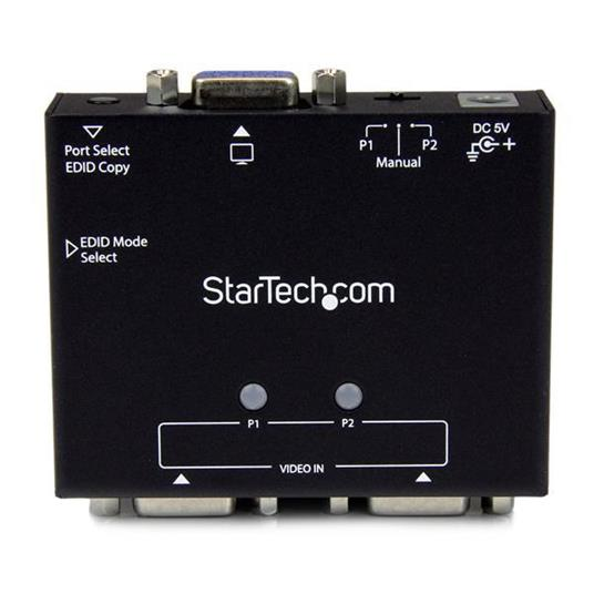 StarTech.com Switch box automatico VGA a 2 porte con commutazione per priorità e copia EDID commutatore video - 5