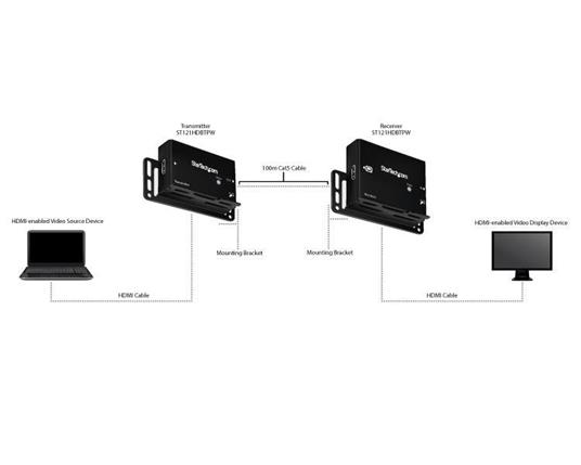 Extender HDMI via CAT5e AT6 HDBaseT K da 100m StarTech.com - 3