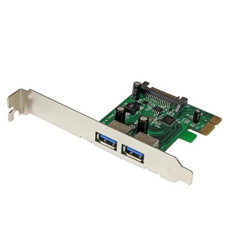 StarTech.com Adattatore scheda SuperSpeed USB 3.0 con 2 porte PCI Express (PCIe) con UASP - Alimentazione SATA