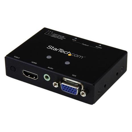 StarTech.com Switch Commutatore 2x1 VGA + HDMI a VGA - Switch Convertitore HDMI / VGA a VGA con commutazione prioritaria - 1080p commutatore video