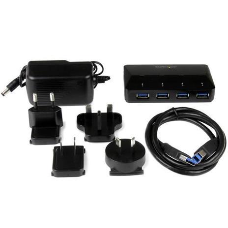 StarTech.com Hub USB 3.0 a 4 Porte con Porta di Ricarica Dedicata - 1 Porta x 2,4 Amp - 3