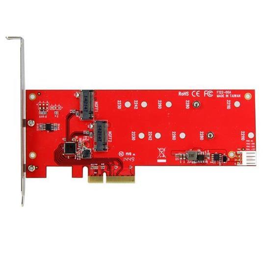 StarTech.com Scheda controller PCI express 2x ( SSD ) M.2 - Adattatore M.2 SATA PCIe NGFF - 5