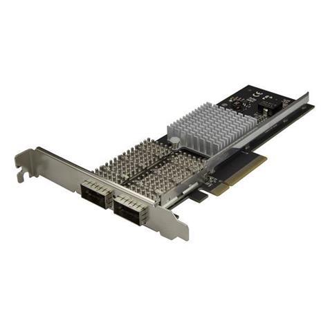 StarTech.com Scheda di rete NIC QSFP+ a doppia porta PCIe - PCI Express - Chip Intel XL710