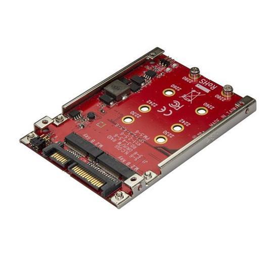 """StarTech.com Adattatore per 2 Dischi SSD M.2 a SATA per alloggio da 2,5"""" - RAID"""