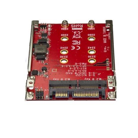 """StarTech.com Adattatore per 2 Dischi SSD M.2 a SATA per alloggio da 2,5"""" - RAID - 2"""