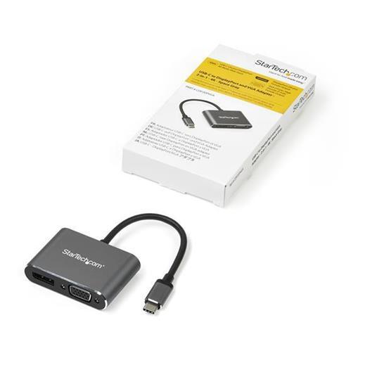 StarTech.com Adattatore video multiporta USB-C - DisplayPort o VGA - 4K 60 Hz - 2