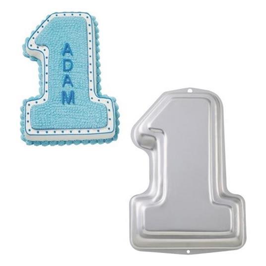 Teglia A Forma Di Numero 1 Uno - Stampo Per Torte E Dolci In Alluminio - 2