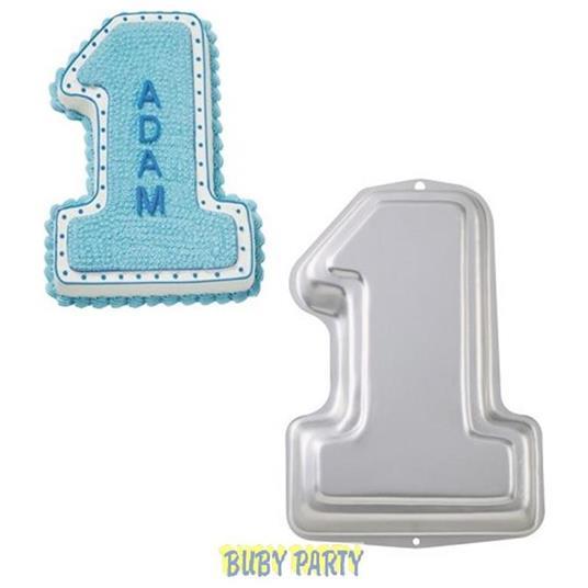 Teglia A Forma Di Numero 1 Uno - Stampo Per Torte E Dolci In Alluminio - 3