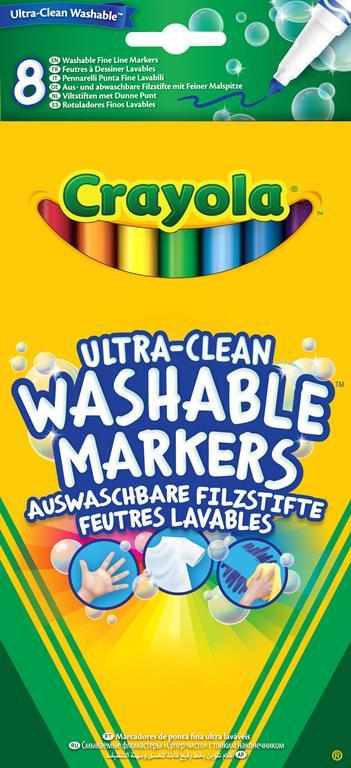 Crayola 8 Ultra Clean Fineline Washable Markers marcatore Multi 8 pezzo(i)