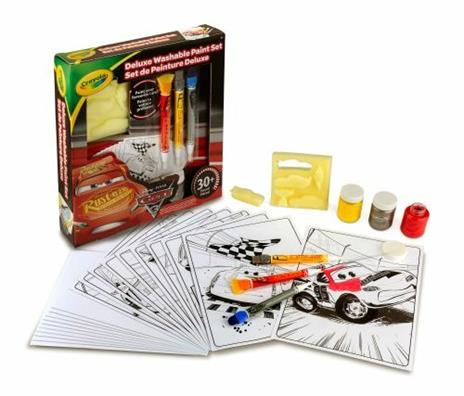 Crayola Cars 3 Deluxe paint kit (L) Guazzo 3 pezzo(i) - 5