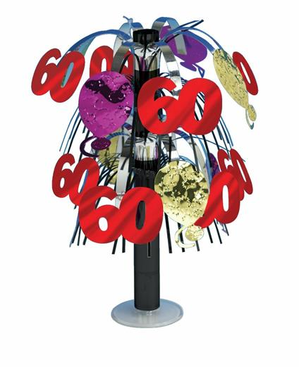 Creative Convertting 8C261723 Centrotavola Fontana 27 Cm, Nr 60, plastica, Multicolore